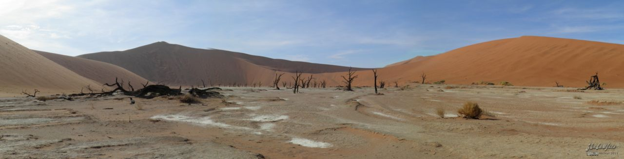 Dead Vlei panorama Dead Vlei, The Sand Dune Sea, Namib Desert, Namibia, Africa 2011,travel, photography, panoramas