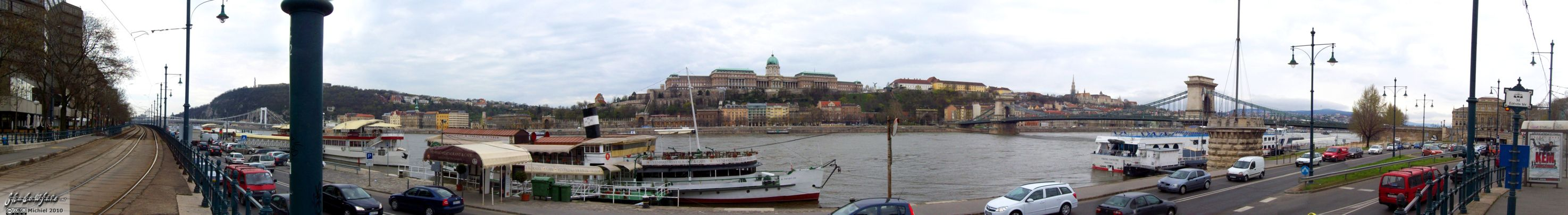 Danube river panorama Danube river, Chain bridge, Buda Castle, Budapest, Hungary, Budapest 2010,travel, photography,favorites, panoramas