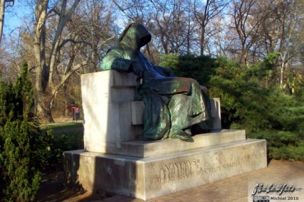 Anonymus statue, Vajdahunyad Castle, City Park, Budapest, Hungary, Budapest 2010,travel, photography,favorites