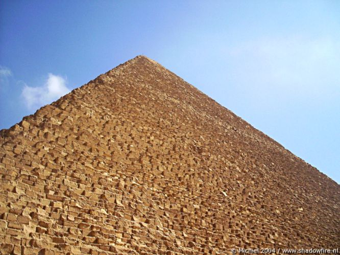 Khufu pyramid, Giza, Egypt 2004,travel, photography,favorites