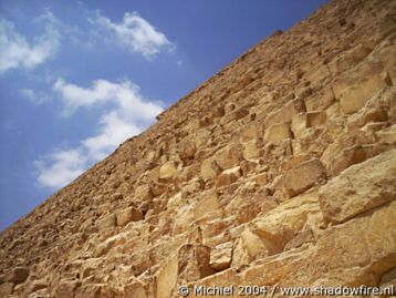 Khafre pyramid, Giza, Egypt 2004,travel, photography