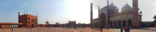 Jama Masjid mosk panorama Jama Masjid mosk, Delhi, India, India 2009,travel, photography,favorites, panoramas