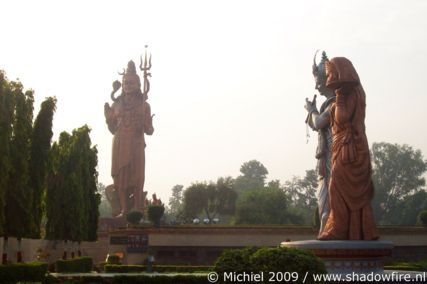 Hindu statues, Route 8, Haryana, India, India 2009,travel, photography