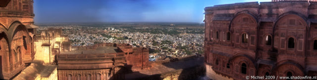 Mehrangarh fort panorama Mehrangarh fort, Jodhpur, Rajasthan, India, India 2009,travel, photography,favorites, panoramas