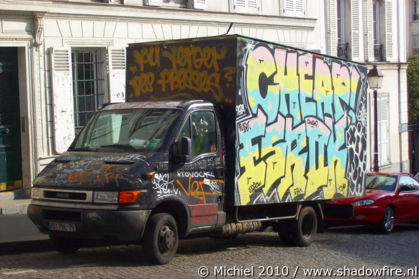 graffiti car, Montmartre, Paris, France, Paris 2010,travel, photography