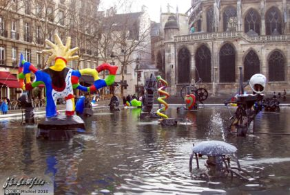 Stravinsky Fountain, Centre Georges Pompidou, Paris, France, Paris 2010,travel, photography,favorites