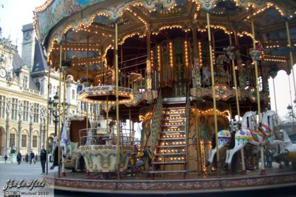 carousel, Hotel de Ville, Paris, France, Paris 2010,travel, photography,favorites
