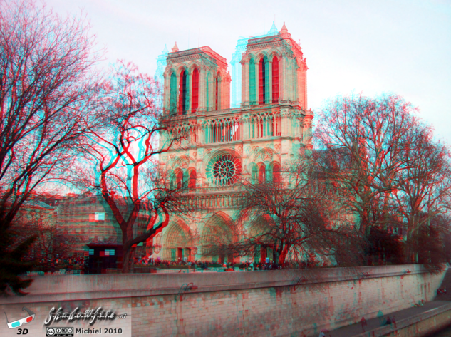 Notre Dame 3D Notre Dame, Paris, France, Paris 2010,travel, photography,favorites,anaglyph 3D