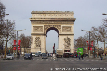 Arc de Triomphe, Place Charles de Gaulle, Avenue des Champs Elysees, Paris, France, Paris 2010,travel, photography