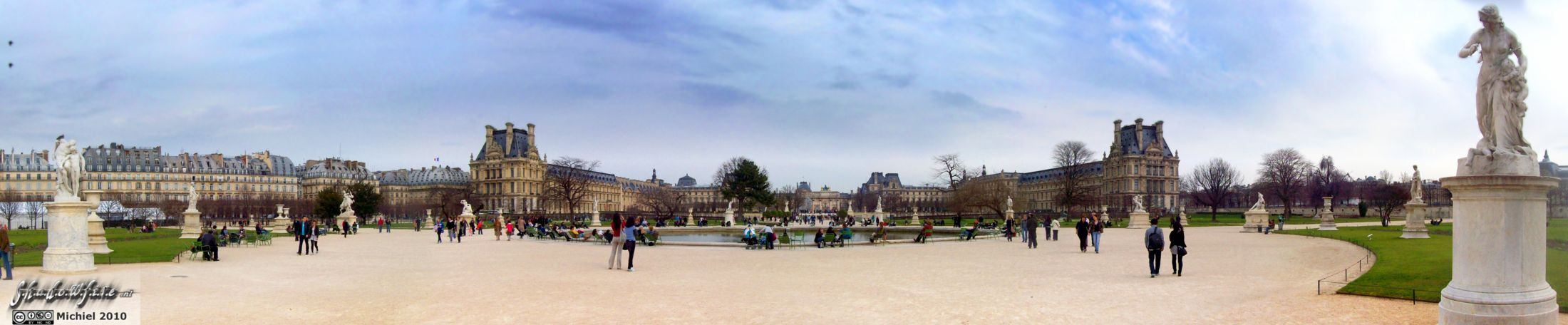 Jardin des Tuileries panorama Jardin des Tuileries, Louvre, Paris, France, Paris 2010,travel, photography,favorites, panoramas