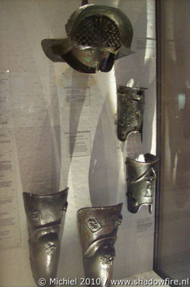 Gladiator armor, Louvre, Paris, France, Paris 2010,travel, photography,favorites