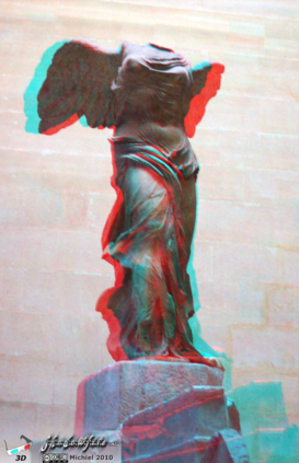 Victory of Samothrace 3D Victory of Samothrace, Louvre, Paris, France, Paris 2010,travel, photography,favorites,anaglyph 3D