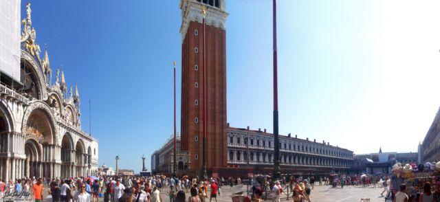 Piazza San Marco panorama Piazza San Marco, San Marco, Venice, Italy, Metal Camp and Venice 2010,travel, photography, panoramas