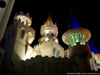 Excalibur, The Strip, Las Vegas BLV, Las Vegas, Nevada, United States 2008,travel, photography