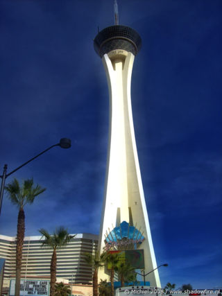 Stratosphere, The Strip, Las Vegas BLV, Las Vegas, Nevada, United States 2008,travel, photography