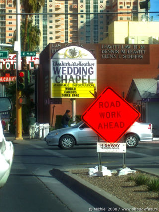 Wedding Chapel, Las Vegas BLV, Las Vegas, Nevada, United States 2008,travel, photography