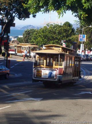 Cable car, Fishermans Wharf, San Francisco, California, United States 2008,travel, photography