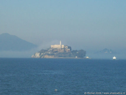 Ferry to Alcatraz, San Francisco Bay, San Francisco, California, United States 2008,travel, photography