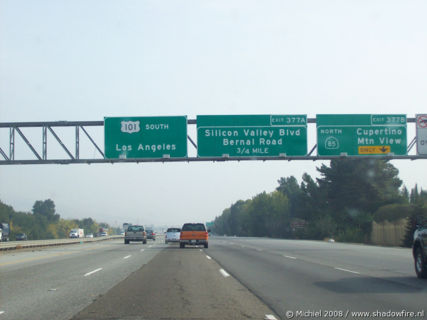 Route 101, Silicon Valley, Mountain View, California, United States 2008,travel, photography
