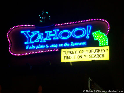 Yahoo, Sunset BLV, Hollywood, Los Angeles area, California, United States 2008,travel, photography