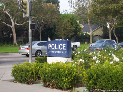 Police station, Rexford RD, Beverly Hills, Los Angeles area, California, United States 2008,travel, photography