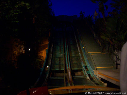 Jurassic Park Ride, Universal Studios, Hollywood, Los Angeles area, California, United States 2008,travel, photography