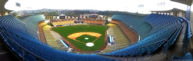 Dodgers, baseball, stadium panorama Dodgers, baseball, stadium, Los Angeles, California, United States 2008,travel, photography,favorites, panoramas