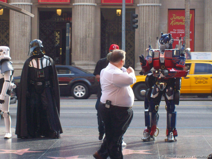Kodak Theatre,Star Wars,Dart Vader,Stormtrooper,Transformers,Optimus Prime, Hollywood BLV, Hollywood, Los Angeles area, California, United States 2008,travel, photography,favorites