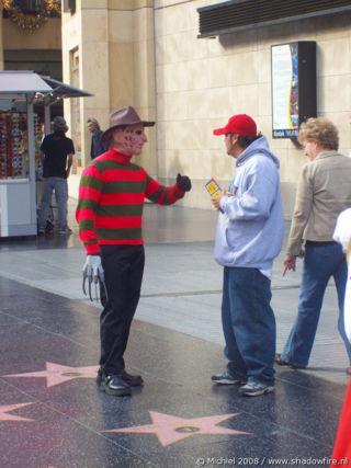 Kodak Theatre,Freddy Kruger, Hollywood BLV, Hollywood, Los Angeles area, California, United States 2008,travel, photography