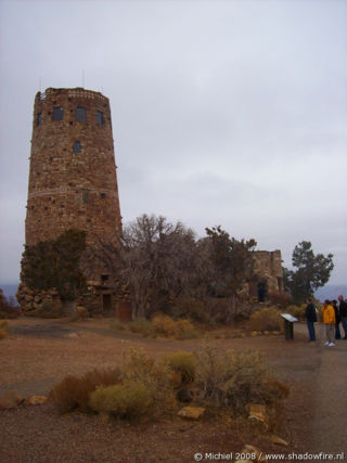 Watchtower, Desert View, South rim, Grand Canyon NP, Arizona, United States 2008,travel, photography