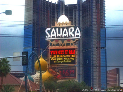 Sahara, The Strip, Las Vegas BLV, Las Vegas, Nevada, United States 2008,travel, photography