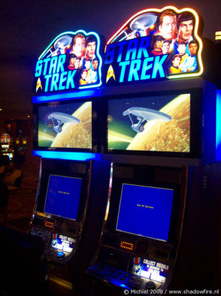 Star Trek slot machines, Caesars Palace, The Strip, Las Vegas BLV, Las Vegas, Nevada, United States 2008,travel, photography,favorites