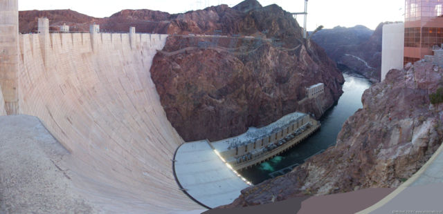 Hoover Dam panorama Hoover Dam, Nevada, United States 2008,travel, photography, panoramas
