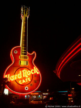 Hard Rock Cafe, Harmon AVE, Las Vegas, Nevada, United States 2008,travel, photography