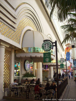 Starbucks, Freemont Street Experience, Downtown, Las Vegas, Nevada, United States 2008,travel, photography