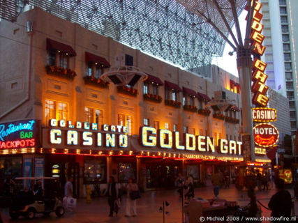 Golden Gate Casino, Freemont Street Experience, Downtown, Las Vegas, Nevada, United States 2008,travel, photography