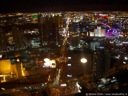 Las Vegas view from the Stratosphere, Stratosphere, The Strip, Las Vegas BLV, Las Vegas, Nevada, United States 2008,travel, photography