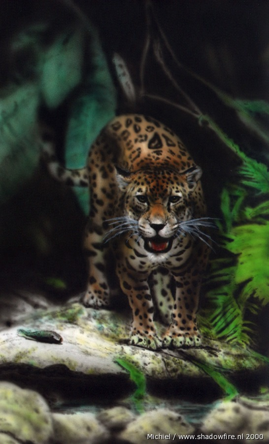 Artwork,Airbrush,Jaguar,animals,favorites,jungle