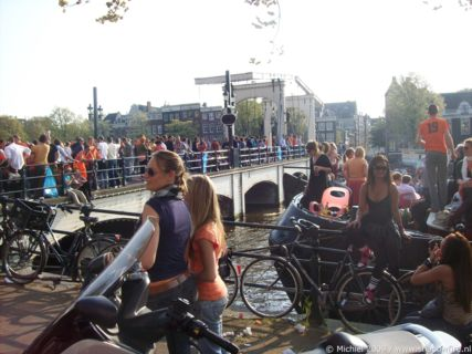 snapshots,Queen's day 2009,Amsterdam,Magere Brug,Photography
