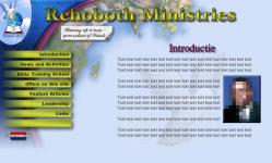 Rehoboth Ministries ISP work, websites, portfolio, html, javascript